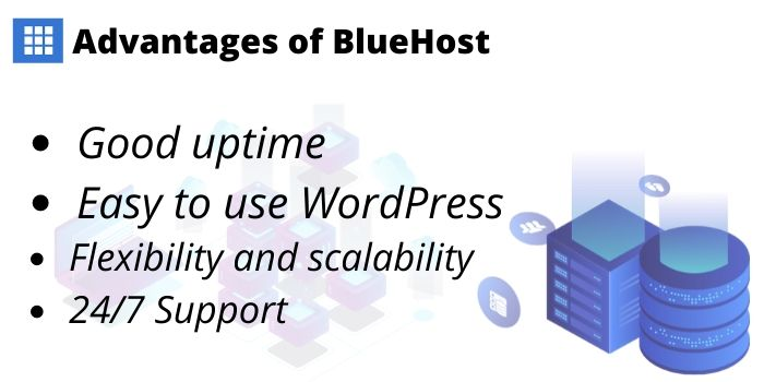 Advantages of BlueHost