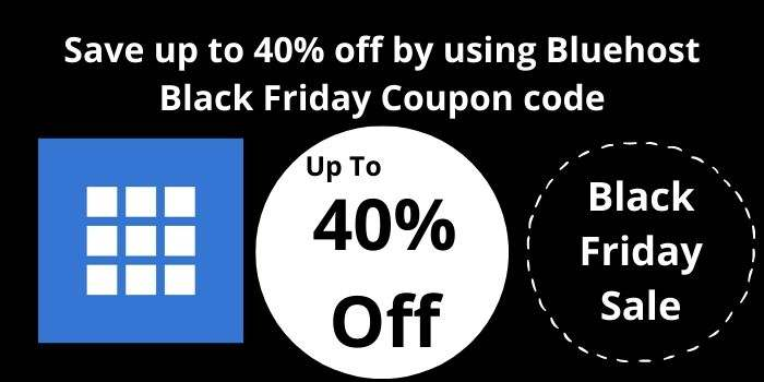 BlueHost 40 off Black Friday Sale