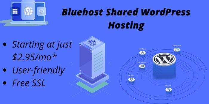 Bluehost WP shared hosting