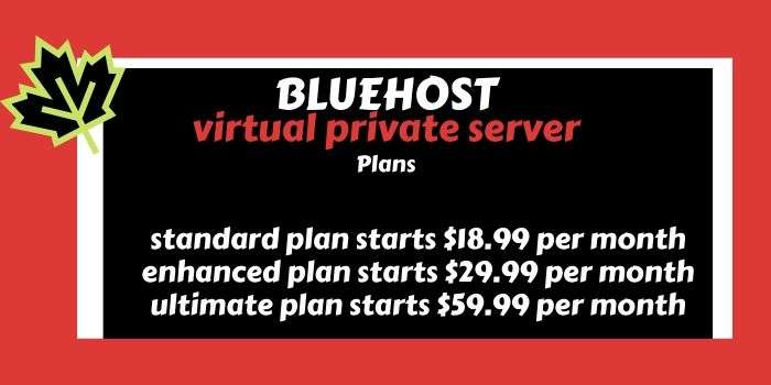bluehost VPS hosting plans