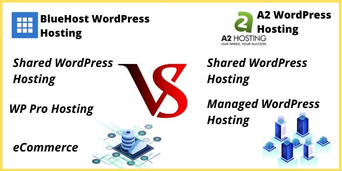 Bluehost VS A2Hosting Hosting Plans